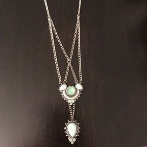 BaubleBar drop Y necklace, Southwest. never worn